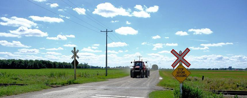 Railway Crossing, Uncontrolled, Stop, Country Road