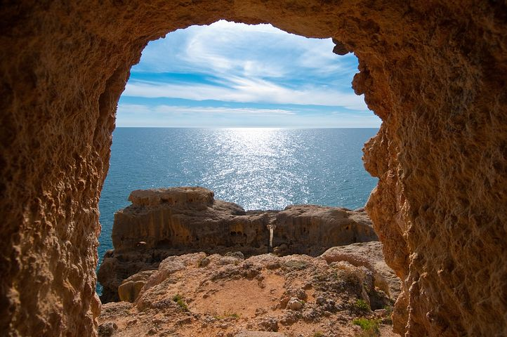 Portugal, Algarve, Sea, Nature, Rock, Ocean, Coast