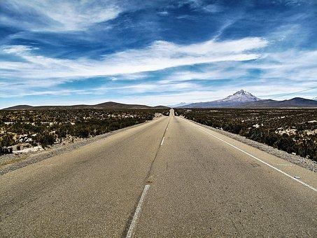 Bolivia, Sajama, Road