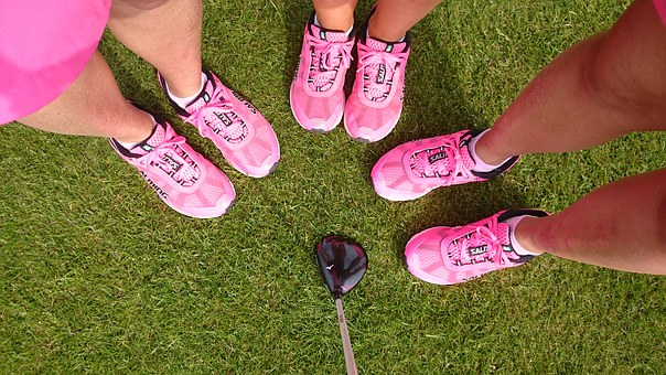 Pink, Sneakers, Golf, Feet, Shoes, Team