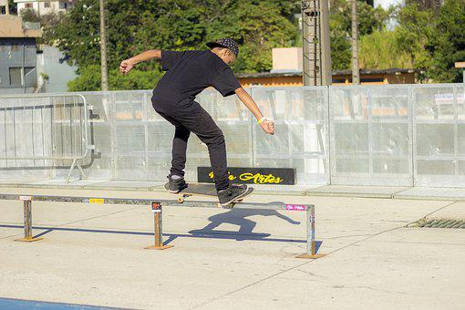 Handrail, Street, Fine Arts, Skate, Sport, Jump, Boys