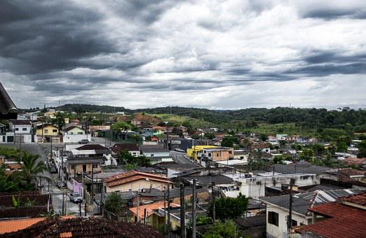 Favela, City, Storm, Between Clouds