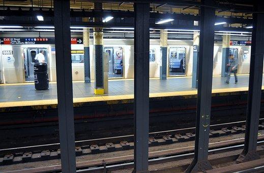 Train, Rapid Transit Tube, Subway, Underground Railway