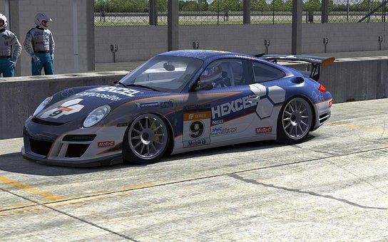 Porsche, Blue, Hexcel, Car, Race, Truck, Sports