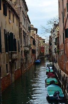 Venice, Italy, Boat, Motor Boat, Channel, Small River