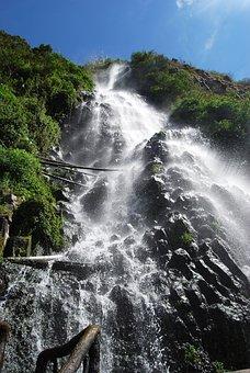 Waterfall, Cataract, Nature, Water, Natural Water
