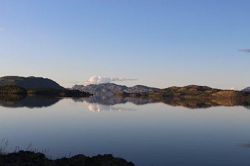 Lake Laberge, Yukon, Canada, Lake, Whitehorse, Nature