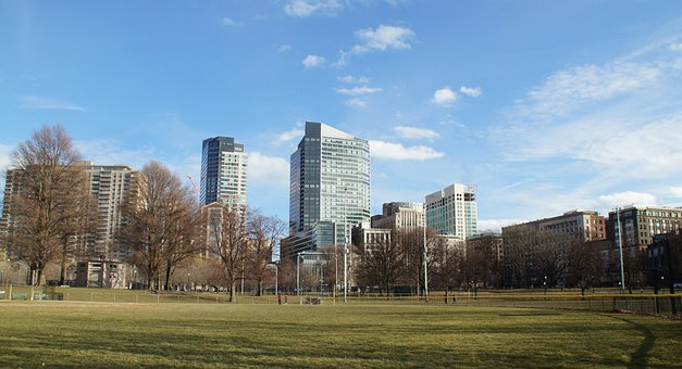 Boston, Massachusetts, Park, Architecture, Skyline
