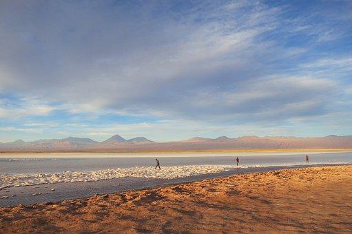 Salt Lake, Atacama Desert, Desert, Dry, Chile