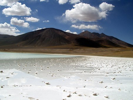 Desert, Atacama Desert, Chile, Salt Crust, Salt, Dry