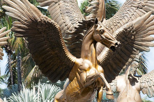 Pegasus, Statue, Bahamas, Atlantis, Architecture