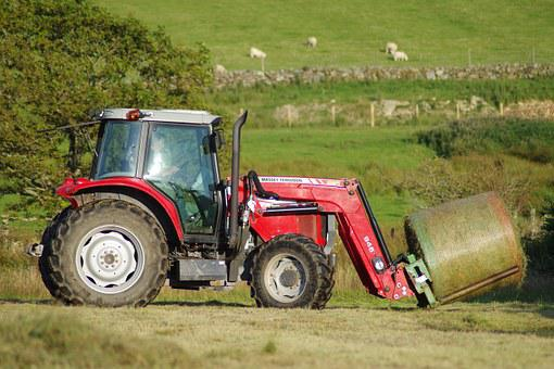 Baling, Hay, Tractor, Bale, Baler, Grass, Agriculture