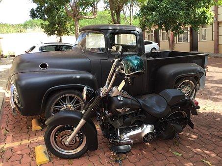 Caveirão, Truck, Bike, Armored Vehicle, Harley Davidson