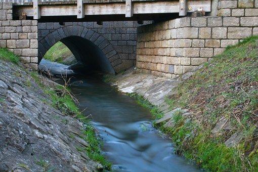 Bach, Bridge, Water, Landscape, Nature, River, Web