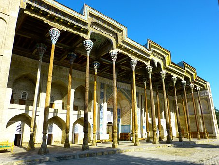 Bolo Hauz, Mosque, Columnar, Wood Carving, Bukhara