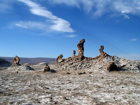 Desert, Atacama Desert, Chile, Salt Crust, Salt