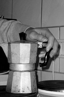 Coffee, Italian, Stove, Metallic Espresso