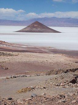 Cone, Salt Flat, Argentina Desert, Andes, Mountain