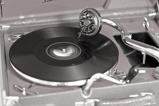 Turntable, Travel Records, Christmas Music, Crank