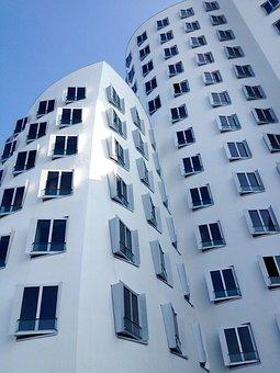 Düsseldorf Hafen, Architecture, Sky, Blue