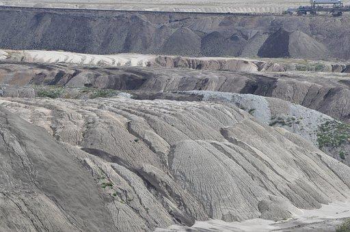 Mine, Brown Coal, Zwałowisko, Heap, View, Earth
