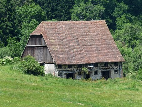 Barn, Scheuer, Farmhouse, Fachwerkhaus, Farm