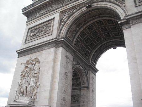 Arc De Triomphe, Paris, France, Arc, Triomphe, Europe
