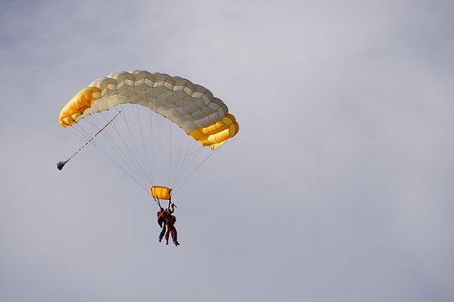 Parachute, Tandem Jump, Glide, Jump