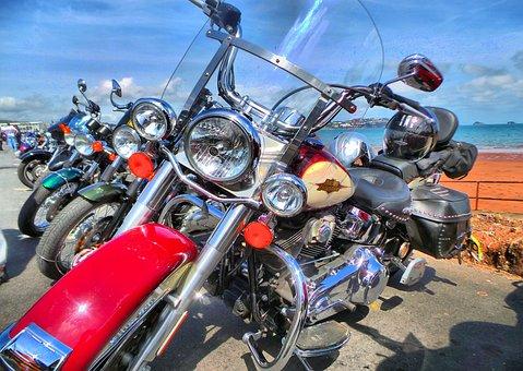 Bmad, Bike, Seaside, Harley, Harley Davidson, Paignton