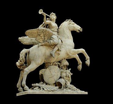 Sculpture, Pegasus, Fame, Horse, Antoine Coysevox