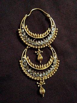 Earrings, Diamond, Jewelery, Jewel, Ornament, Gold