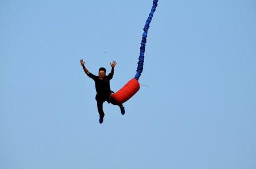 Sports, Bungee, Bungee Jumping, Jump, Danger, Falling