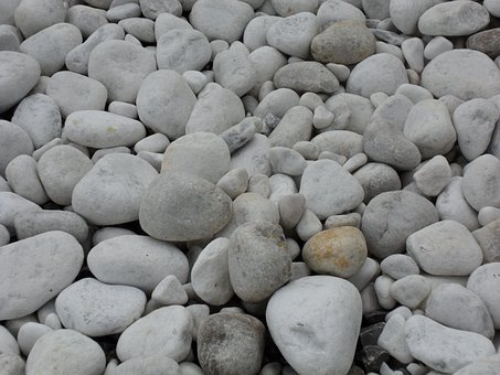 Marble, Pebble, Marble Gravel, Riverbed, White