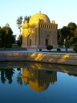 Samanid Mausoleum, Tomb, Water, Mirroring