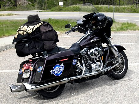 Harley Davidson, Black, Motorbike, Transportation
