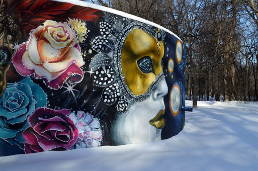 Winnipeg, Canada, Wall, Mural, Art, Artistic, Paining