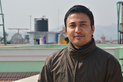 Male, Portrait, Nepal, Outdoors, Face, Smile, Banepa