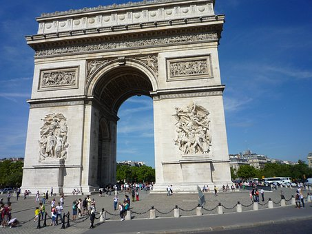 Arc De Triomphe, Arc, Triomphe, Paris, France, Parisian