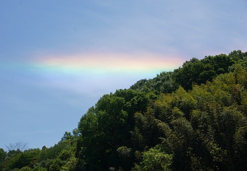 Sky, Rainbow, During The Day, Red, Huang, Green, Blue
