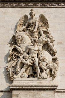 Arc De Triomphe, Paris, Relief, Sculpture, Monument