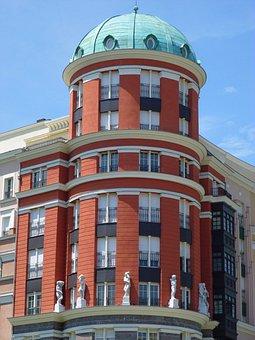 Artklass, Building, Dome, Bilbao, Residential, Facade