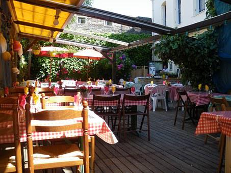 Restaurant, Dining, France, Table, Outdoor, Ambiance