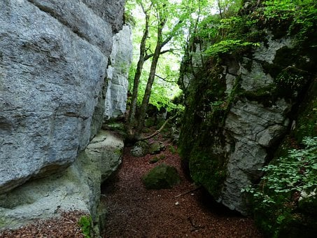 Rock, Cleft Rock, Sheep Mountain, Gorge, Swabian Alb