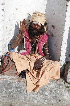Sadhu, Holy Man, Kathmandu, Hindu, Nepal, Man, Old
