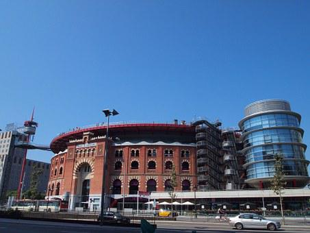 Spain, Barcelona, Bullring, Shopping, Spain Square