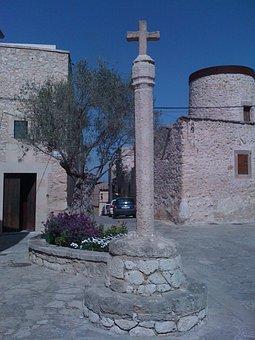 Square Column, Tree, Home, Building, Spain, Blue Er Sky