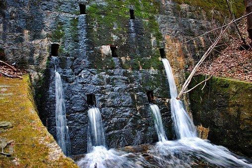 Culvert, Stream, Hot, Water, Beskids, The Brook