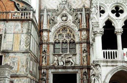 Italy, Venice, Dom, Lion, Pegasus, Church, Venezia