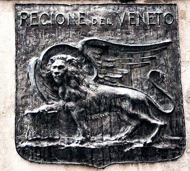 Italy, Venice, Coat Of Arms, Lion, Pegasus