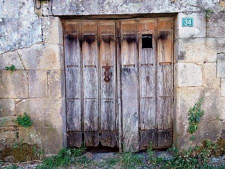 Door, Village, Rural, Silleda, Galicia